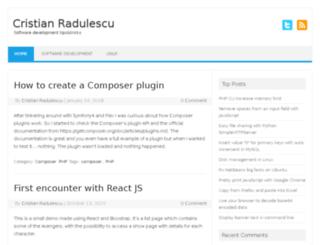 cristian-radulescu.ro screenshot