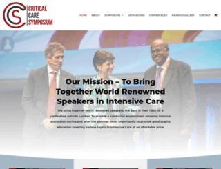 critcaresymposium.co.uk screenshot