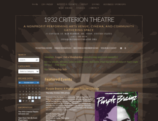 criteriontheatre.showare.com screenshot