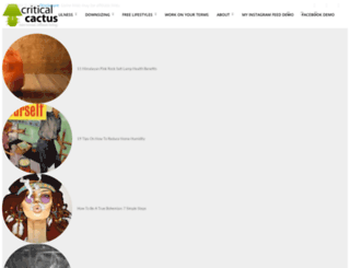 criticalcactus.com screenshot