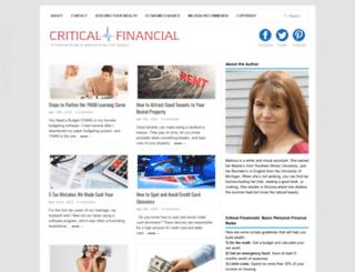 criticalfinancial.com screenshot