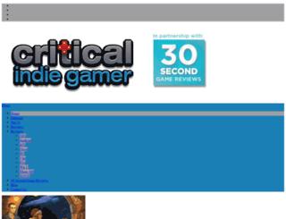 criticalindiegamer.com screenshot