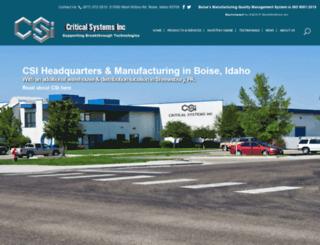 criticalsystemsinc.com screenshot