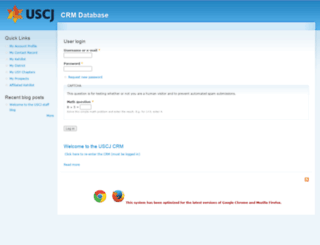 crm.uscj.org screenshot