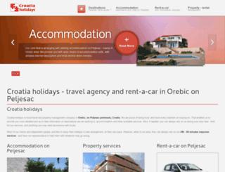 croatia-holidays.hr screenshot