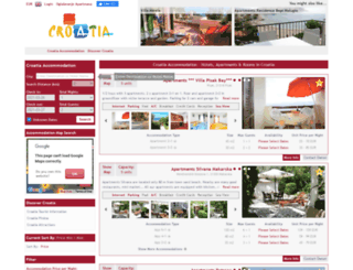 croatiaapartments.net screenshot