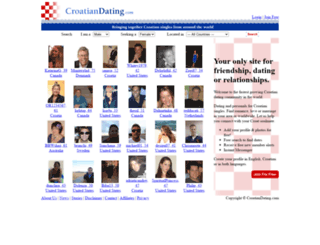 croatiandating.com screenshot