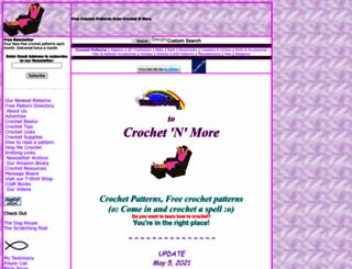 crochetnmore.com screenshot