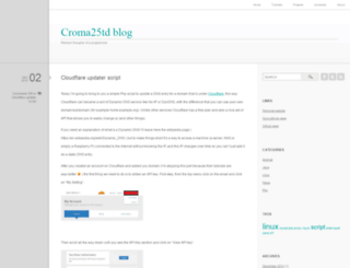 croma25td.com screenshot