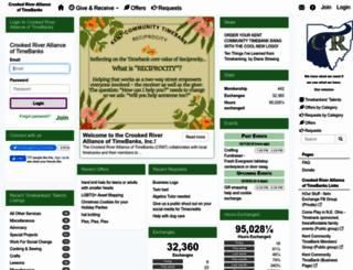 crookedriver.timebanks.org screenshot