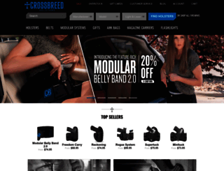 crossbreedholsters.com screenshot
