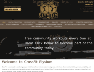 crossfitelysium.com screenshot