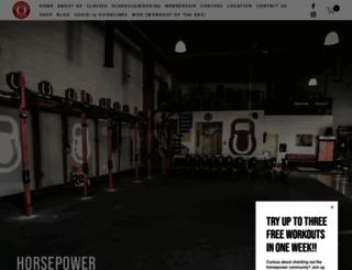 crossfithorsepower.com screenshot