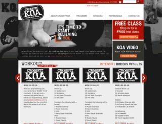 crossfitkoa.com screenshot