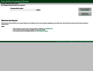 crossword-solver.org screenshot