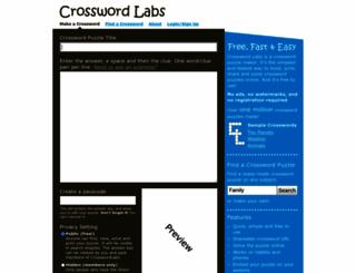 crosswordlabs.com screenshot