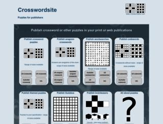 crosswordsite.com screenshot