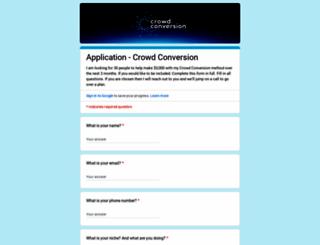 crowdconversion.com screenshot