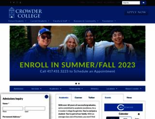 crowder.edu screenshot