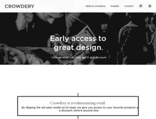 crowdery.com screenshot