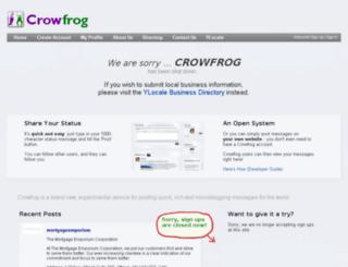 crowfrog.com screenshot