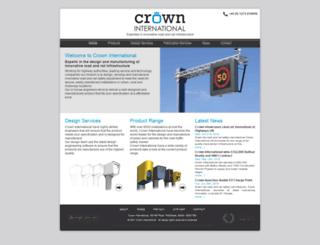crown-international.co.uk screenshot