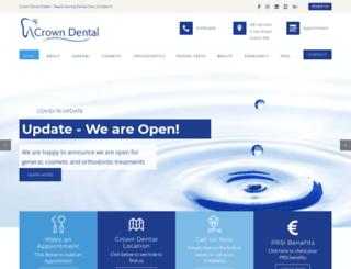crowndental.ie screenshot
