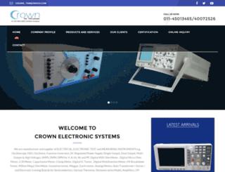 crownelectronicsystems.com screenshot