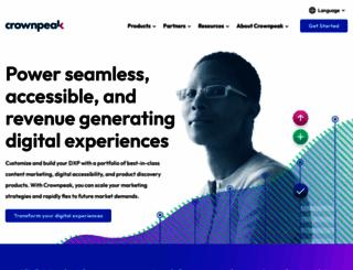 crownpeak.com screenshot
