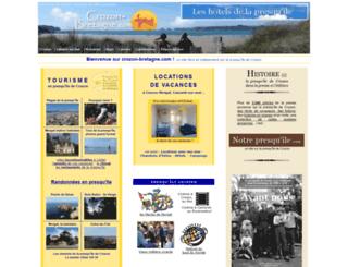 crozon-bretagne.com screenshot