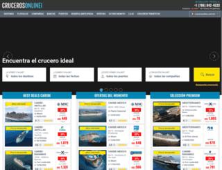 crucerosonline.com.mx screenshot