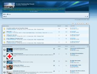 cruise-community.me.uk screenshot