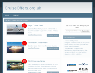 cruiseoffers.org.uk screenshot