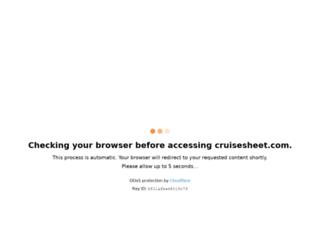 cruisesheet.com screenshot