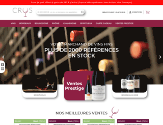 crus.fr screenshot