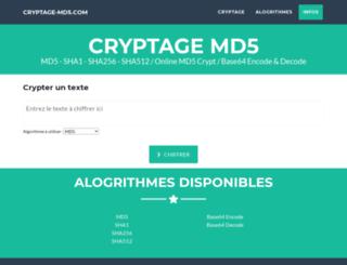 cryptage-md5.com screenshot