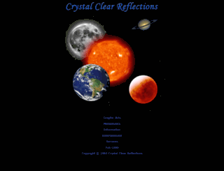 crystal-reflections.com screenshot