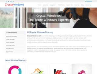 crystal-windows.co.uk screenshot