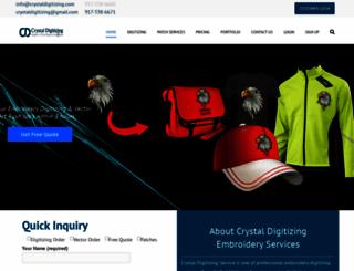 crystaldigitizing.com screenshot