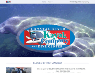crystalriverkayakcompany.com screenshot