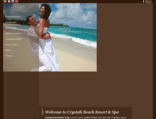 crystalsbeach.com screenshot
