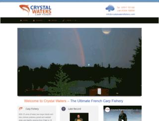 crystalwatersfishery.com screenshot