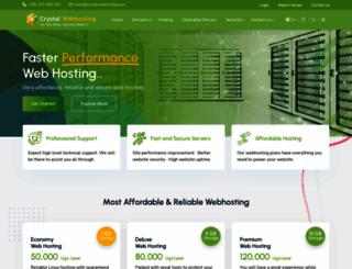 crystalwebhosting.com screenshot