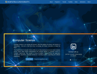 cs.hofstra.edu screenshot
