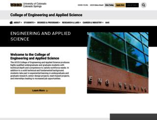 cs.uccs.edu screenshot
