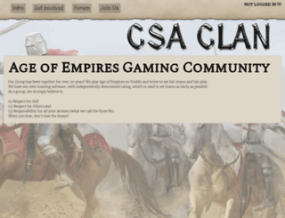 csaclan.org screenshot