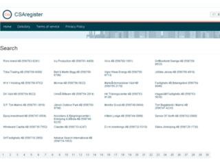 csaregister.com screenshot