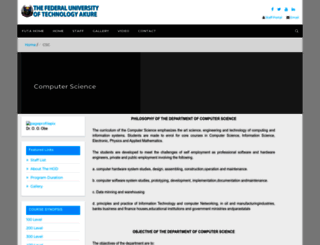 csc.futa.edu.ng screenshot