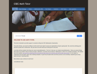 csecmathtutor.com screenshot