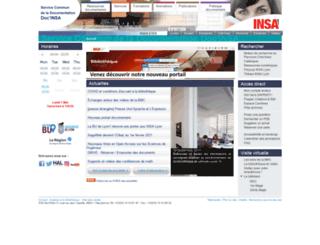 csidoc.insa-lyon.fr screenshot